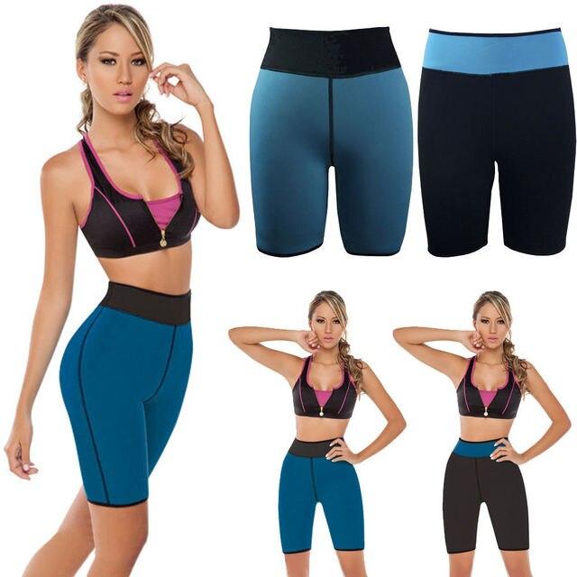 Reversible De Neopreno mujeres Fat Burner Cortos de Fitness Ultra Sudor Pantalones de La Talladora Shapewear Malla Beach Shorts Tallas grandes