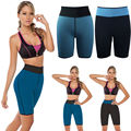 Women Neoprene Reversible Fat Burner Fitness Short Ultra Sweat Shaper Pants Shapewear Mesh Beach Shorts Plus Size