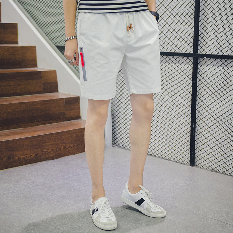 Hot Sale Casual Quality Shorts Men Elastic Waist Short Pants Male Fashion Beach Shorts Mens Pure Color Breathable Men Shorts K12