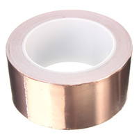 MTGATHER 50 X 20 Mm Adhesive Single Face Electric Conduction Copper Foil Tape Shielding Guitar Slug