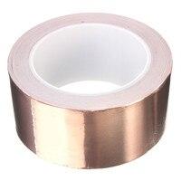 MTGATHER 50 X 20 Mm Adhesive Single Face Electric Conduction Copper Foil Tape Shielding Guitar Slug