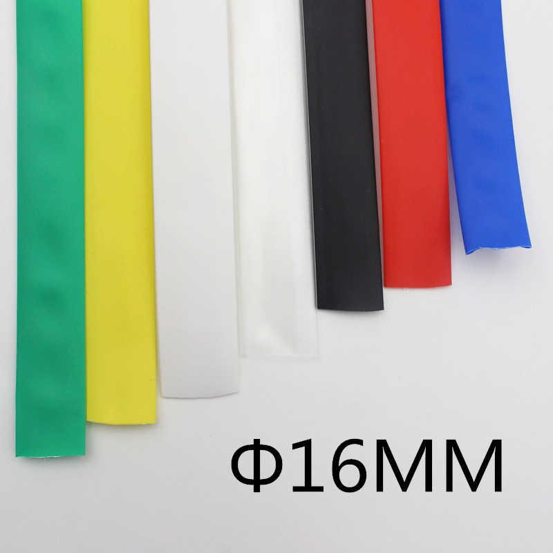 (1 metros/lote) Tubo negro termocontracción de 16MM de diámetro interior/tubo termocontracción Color: negro rojo azul verde amarillo