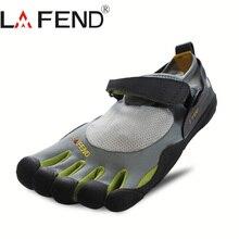 2017 lafend Китай Бренд Дизайн Резиновая с пятью пальцами открытый противоскользящая легкая дышащая альпинист обувь для мужчин