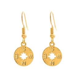 Новый компас серьги-капли для женщин Европейский Круглый Компас серьги-капли шкатулка и иглы серьги для женщин в качестве подарка