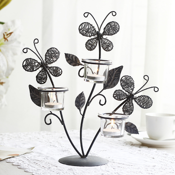 European iron candle holders candlestick creative butterfly Home Furnishing Decor ornaments candlelight