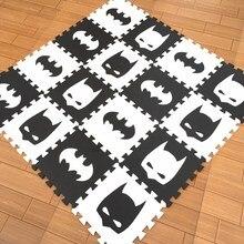 Суперма/Железный человек/бэтма/пена EVA puzzlen/детский игровой коврик из пены, игровой коврик-пазл/10 шт./лот, Переплетенные упражнения, тильекаждый 30 см X 30 см