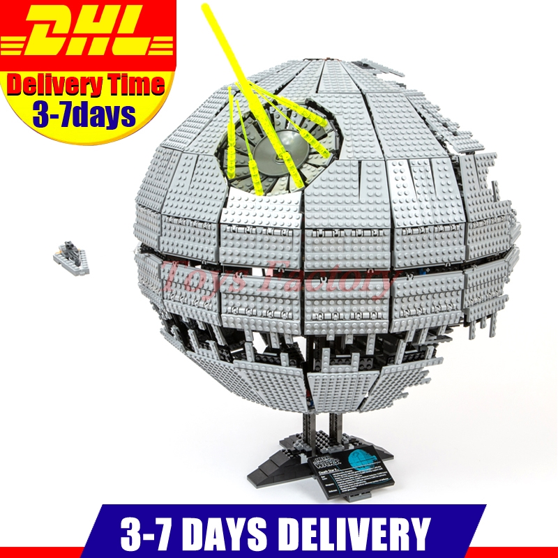 MOC LEPIN 05026 3449Pcs UCS Death Toy Star The second Model Building Kits Blocks Bricks Compatible Chilsren Toys Gift With 10143 lepin 05035 star wars death star limited edition model building kit millenniums blocks puzzle compatible legoed 75159