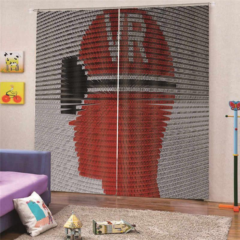 3D Digital Print Football Blackout Curtain For Living Room Children Bedroom Cartoon Printed kids Cortinas Draps Home Decor AP16