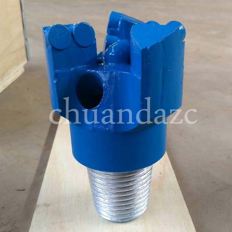 76mm Diamond head pdc drill bit Coal Ore Mining Oil Well Drilling 3 wing Coring Drag drill bits ...