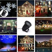 Новогоднее украшение огни открытый рождественский лазерного света снежинка рождество проектор огни водонепроницаемый бесплатная доставка