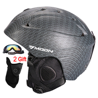 MOON Ski Helmet Ultralight CE Certification Integrally Molded Breathable Skateboard Ski Snowboard Helmet