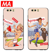 MA World Cup sexy beauty Phone Case For Huawei P20 P10 P9 Lite Pro Cases Ultra-thin TPU Cover For Honor 8 9 10 Lite Mate 10 20