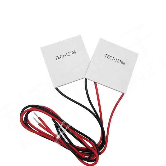 HAILANGNIAO 1PCS/LOT TEC1-12706 12706 TEC Thermoelectric Cooler Peltier 12V New of semiconductor refrigeration TEC1-12706 1pcs water cooling block 50x50x12mm 1pcs cooler peltier tec1 12706