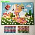 Happyxuan 5 unids/lote 19*26.5 cm diy cristal mosaico pegajoso art sticker artesanías aprendizaje temprano y educación juguetes para niños