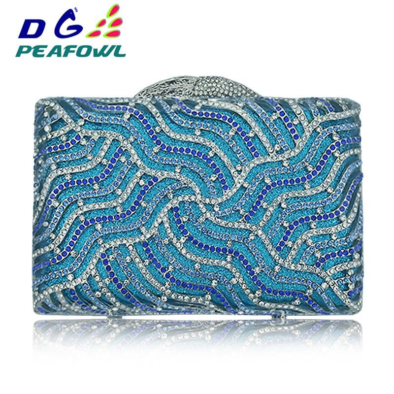 Handtasche Blue Kleine Frauen Diamanten Kupplung Abend Kupp Party Bling Mode Design Hochzeit Voller Strass Taschen Tasche xqXYqZrA