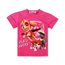 Paw Dog Clothes Girl T-Shirt Cotton Summer Short-Sleeve T-Shirt Patrol Puppy Dog Girl Kids T-shirts Boys Tops Children Clothes