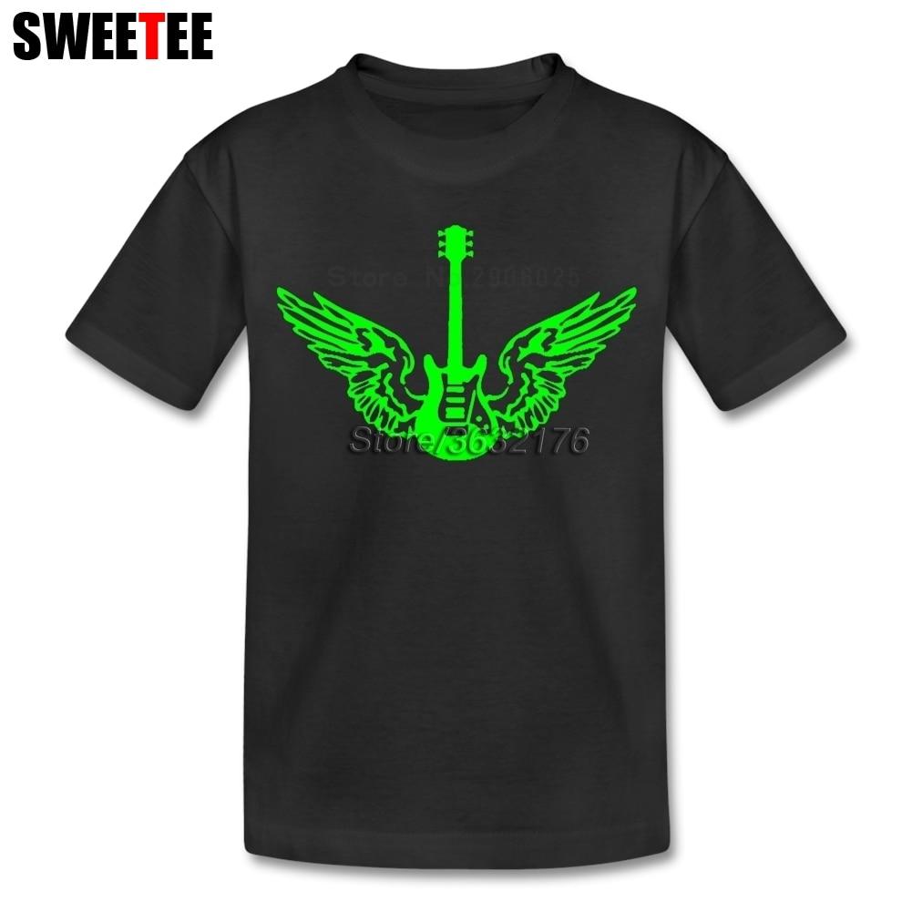 Guitar Wings T Shirt Baby Cotton Short Sleeve Round Neck Tshirt childrens Garment 2018 New Coming T-shirt For Boys Girls