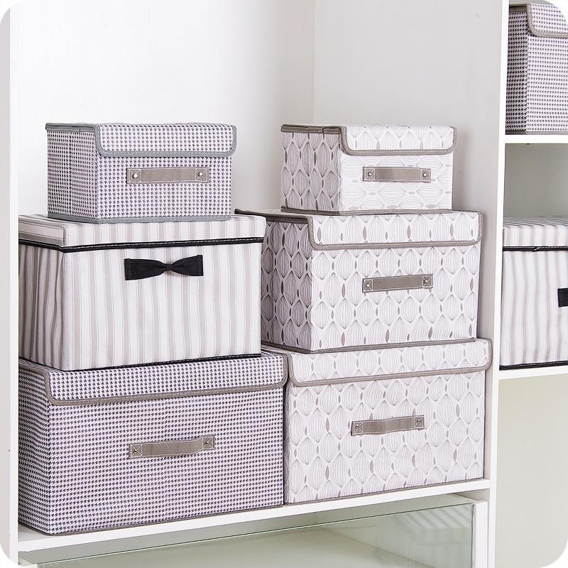 New Non Woven Fabric Folding Underwear Storage Box Bedroom: New Folding Non Woven Fabric Storage Box Home Supplies