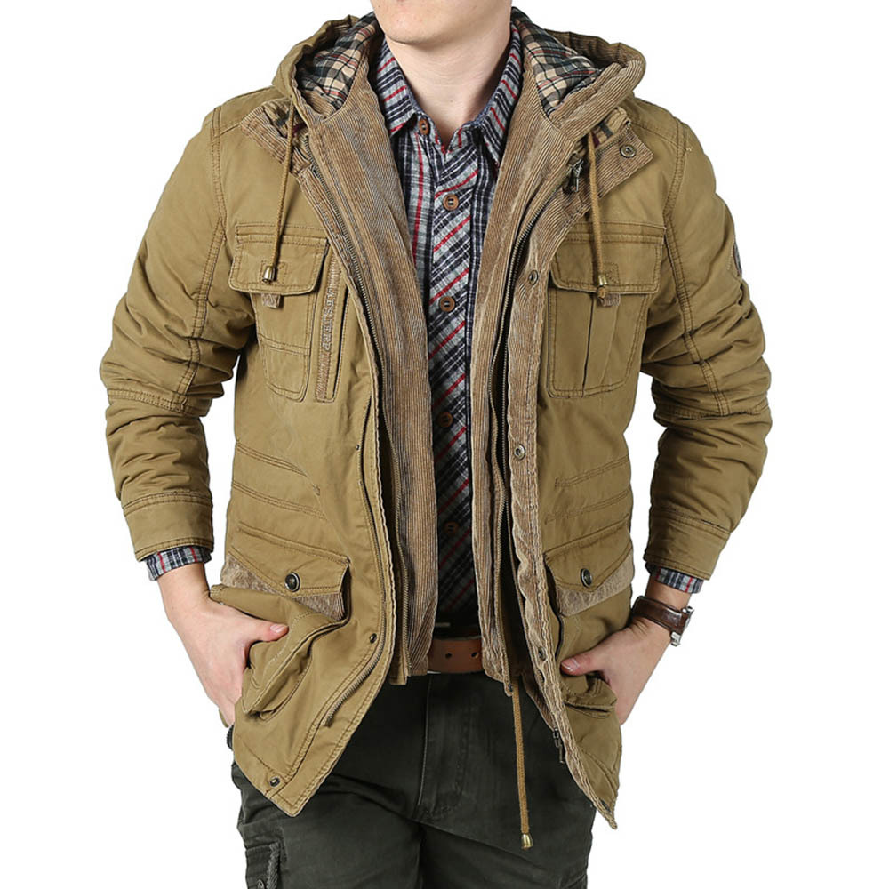 6ed7dab70b 2015 New Arrival Winter Men s Thick Jackets Slim Fit Army Military Style Jacket  Coat Outdoor Hunting Clothing Plus Size M 4XL-in Jackets from Men s  Clothing ...