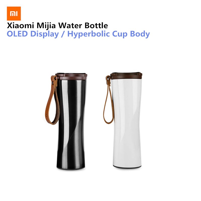 лучшая цена Xiaomi Mijia Kiss Fish Stainless Steel Thermal Bottle Smart Vacuum Sensitive Temperature Sensor Water Bottle Remote Control