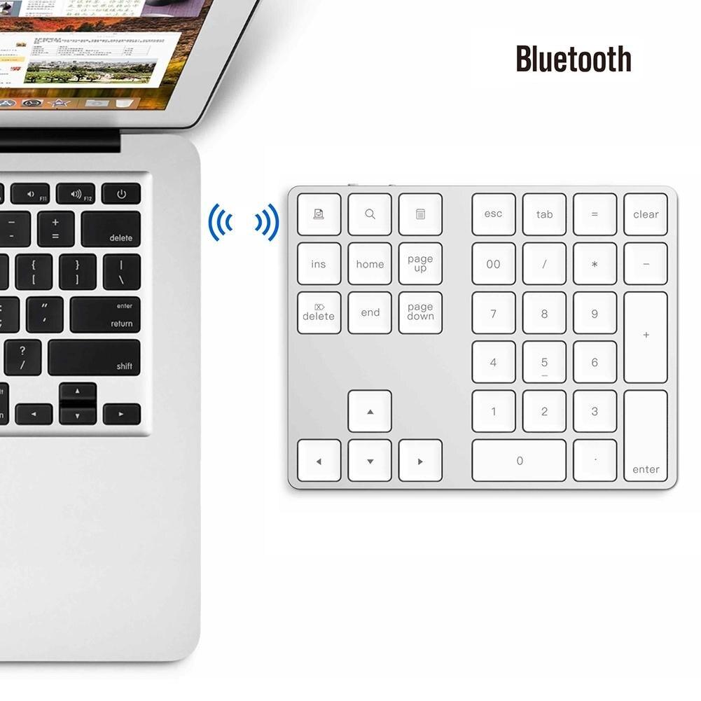 Clavier Portable en aluminium sans fil Bluetooth 34 touches pour MacBook Air/Pro 2019NEW