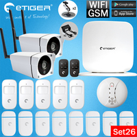 Chuangkesafe ETiger WiFi GSM Newest Alarm Aystem With Outdoor IP Camera Somke Detector
