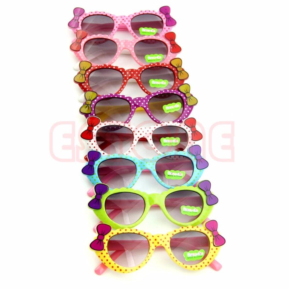2018 Новое поступление горячей милые мальчики девочки детские солнцезащитные очки стекло ребенок очки лук очки УФ 400 #