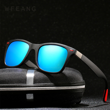 WFEANG BRAND DESIGN Classic Polarized Sunglasses Men Women Driving Square Frame Sun Glasses Male Goggle UV400 Gafas De Sol