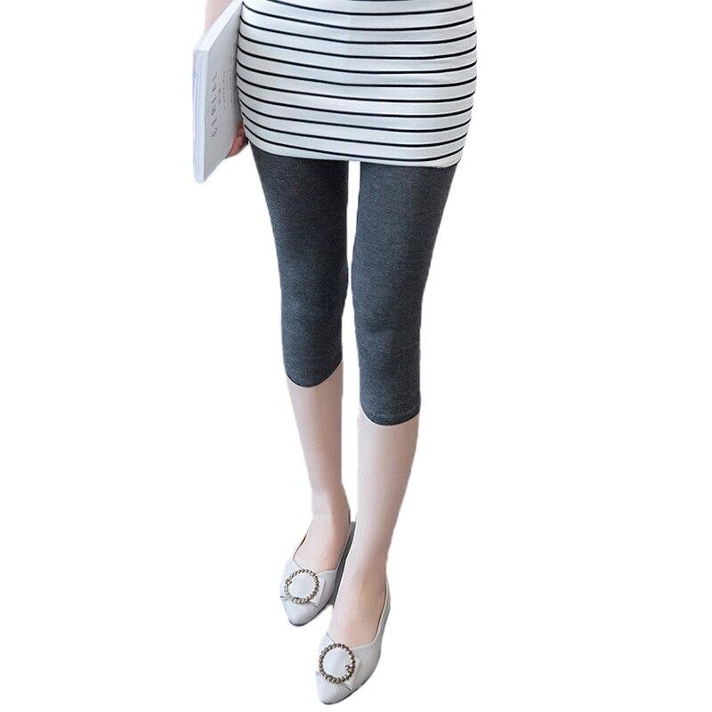 Casual Women Leggings New Fashion Women Mid-Calf Pants Workout Leggings Solid Colors Ladies Fitness Leggins Black KH858264