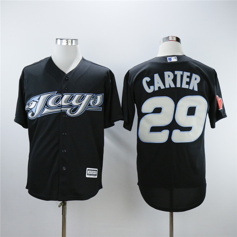 MLB Toronto Blue Jays Joe Carter black Jersey