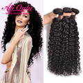 New Water Wave Virgin Hair 8A Indian Virgin Hair 3 Bundle Deals Curly Weave Human Hair Extension Cheap Indian Curly Virgin Hair