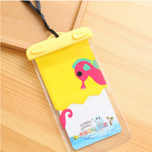 Waterproof Cartoon trasparent Lovely mobile phone bag for iPhone 6 6s 7 plus Blueboo Maya Max Child gift protection cover wallet