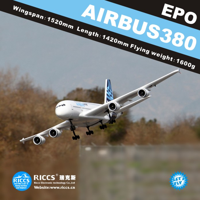 Free shipping A380 6CH RC airplanes aircraft model A380 airbus remote control electric model EPO 1 400 jinair 777 200er hogan korea kim aircraft model