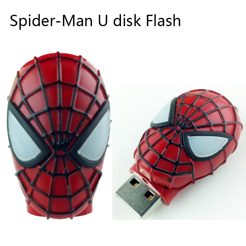 Pendrive 128GB <font><b>Spiderman</b></font> USB flash drive 4gb/8gb/16gb/32gb/64gb usb pen drive 2.0 memory Stick car/gift/disk storage devices 16g