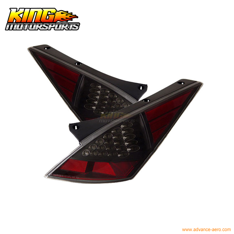 for 2005 2007 06 chrysler 300 300c led tail lights black lamps usa domestic free shipping For 03 04 05 Nissan 350Z LED Tail Lights Lamps Black USA Domestic Free Shipping