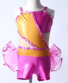 Orange rose fée enfants adultes jazz robinet danse lyrique Tutu filles Ballet danse robe