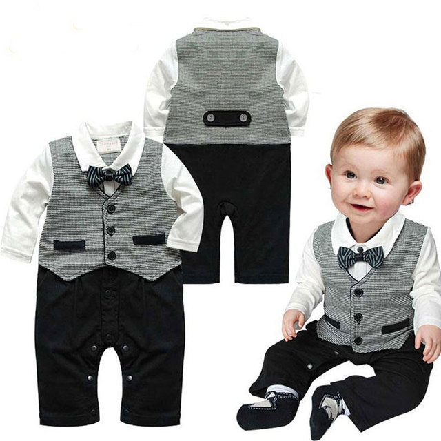Formal Rompers For Infant Baby Boy Wedding Clothes Spring 2017 ...