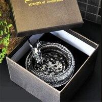 Высокое качество китайский дракон форма титана стали пепельница домашнего офиса украшение стола