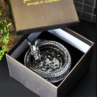 High Quality The Chinese Dragon Shape Titanium steel Ashtray Home Office Desk Decoration