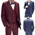 2015 ternos finos New Arrival Skinny ternos de roupas masculinas Set de manga comprida brasão negócios asiático tamanho UF103