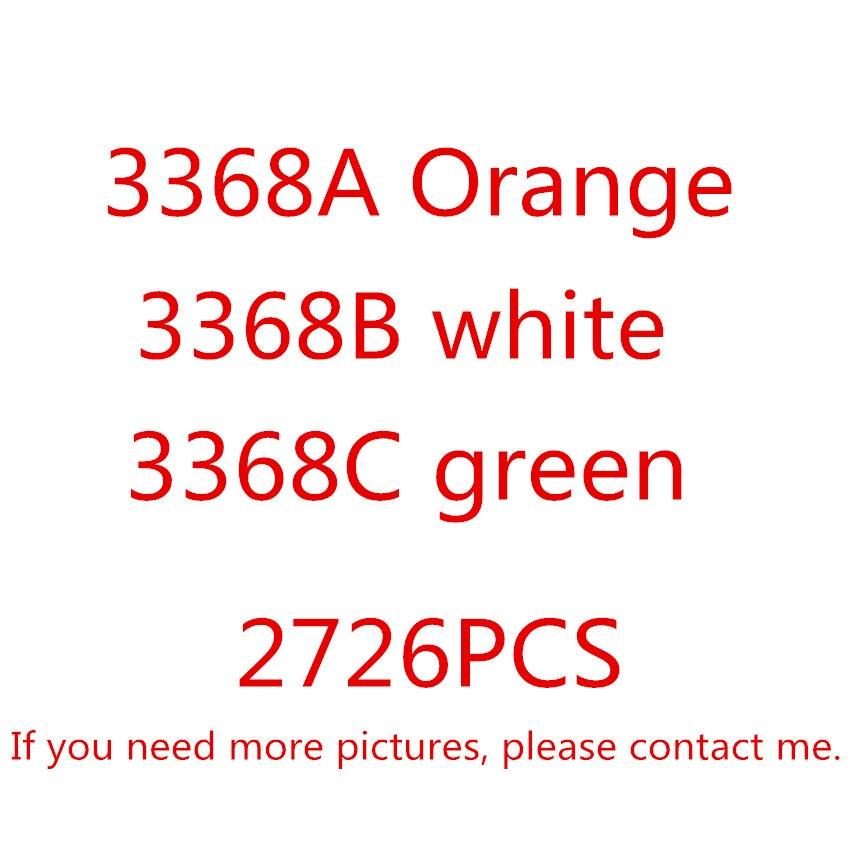 Décool 3368 2726 pièces Technic série blanc vert Orange voiture modèle Kits de construction blocs jouets briques Comaptible avec 42056 cadeaux