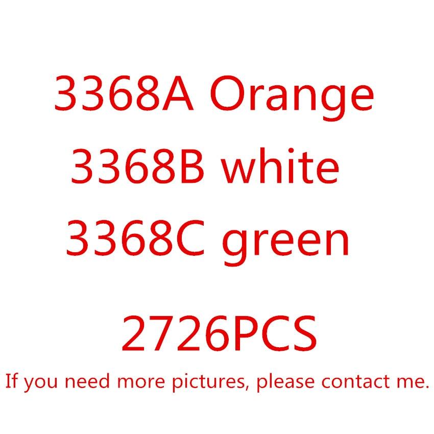 DECOOL 3368 2726 pièces Technique Série Blanc Vert Orange modèle voiture Kits de Construction blocs jouets Briques Comaptible avec 42056 Cadeaux