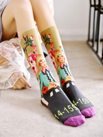 2019 New Arrival Women Socks Pug Calcetines Mujer 3d Color Tide Tube Socks Net Personality Printing Cotton Socks Pile Women