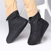 Mężczyźni kobiety pokrowce na buty do deszczu mieszkania kostki pokrowiec na buty pcv wielokrotnego użytku antypoślizgowy pokrowiec na buty z wewnętrzną wodoodporną warstwą tanie tanio NoEnName_Null Buty covers Z tworzywa sztucznego Stałe 512-2 Waterproof