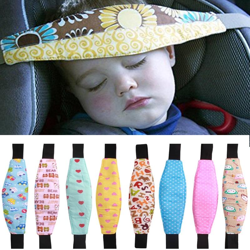 Infants Head Support For Pram Stroller Safety Seat Fastening Belt Adjustable Playpens Sleep Positioner For Baby Cotton Playpen