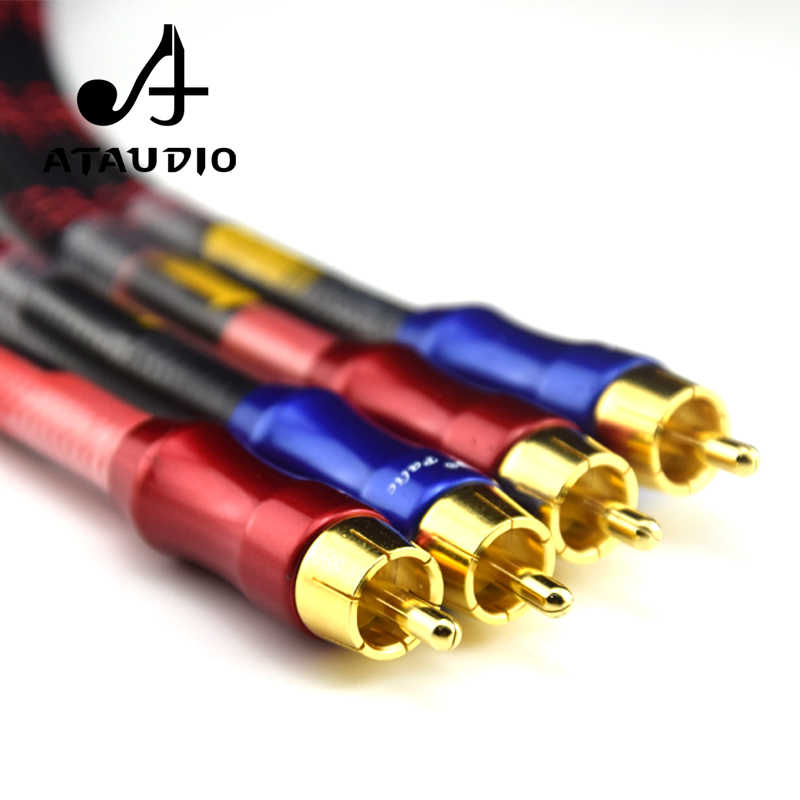 ATAUDIO HIFI стерео пара RCA кабель высокая производительность Премиум Hi-Fi аудио 2rca к 2rca Межблочный кабель