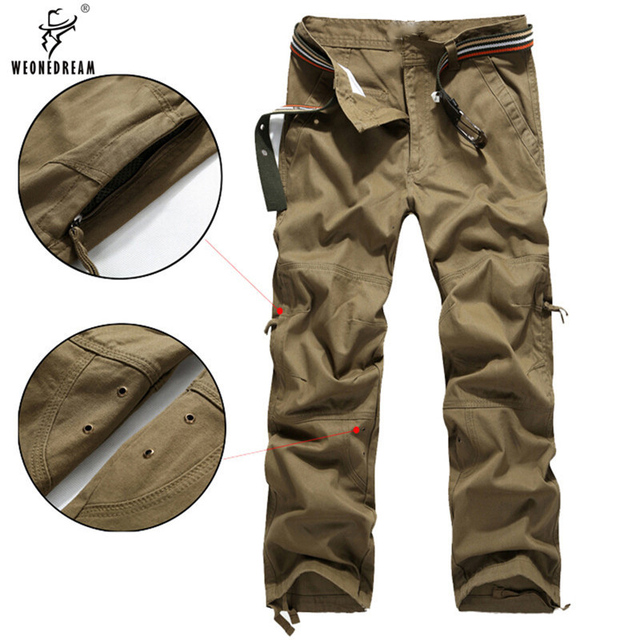 c16e469f US $19.46 40% OFF WEONEDREAM 2018 Fashion Men Pants High Quality Cotton  Mens Cargo Pants Army Military Tactical Pants Size 30 40-in Casual Pants  from ...