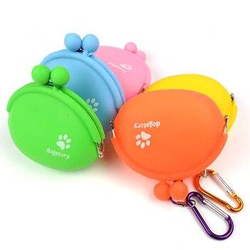 Pet Dog Walking Food Treat Snacks Bag Outdoor Silicone Dog Training Food Storage Pockets Pouch Waist Storage Hold 1