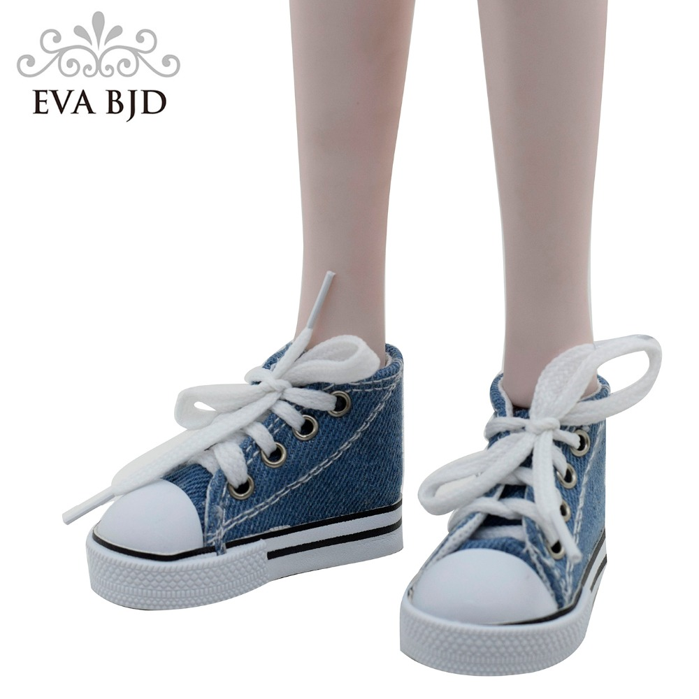 Canvas Shoes 7.5cm BJD Doll Toy Mini Doll Shoes for 16 Inch Sharon doll Boots /_7