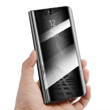 Luxury Mirror Flip Case For Samsung Galaxy S9 S 9 Ultra thin Leather Clear View Smart Cover For Samsung Galaxy S9 Plus s9+ Cases cover case for samsung galaxy s9 luxury ultra thin flip stand pu leather